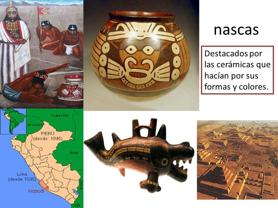 nascas Destacados por las cerámicas que hacían por sus formas y colores.