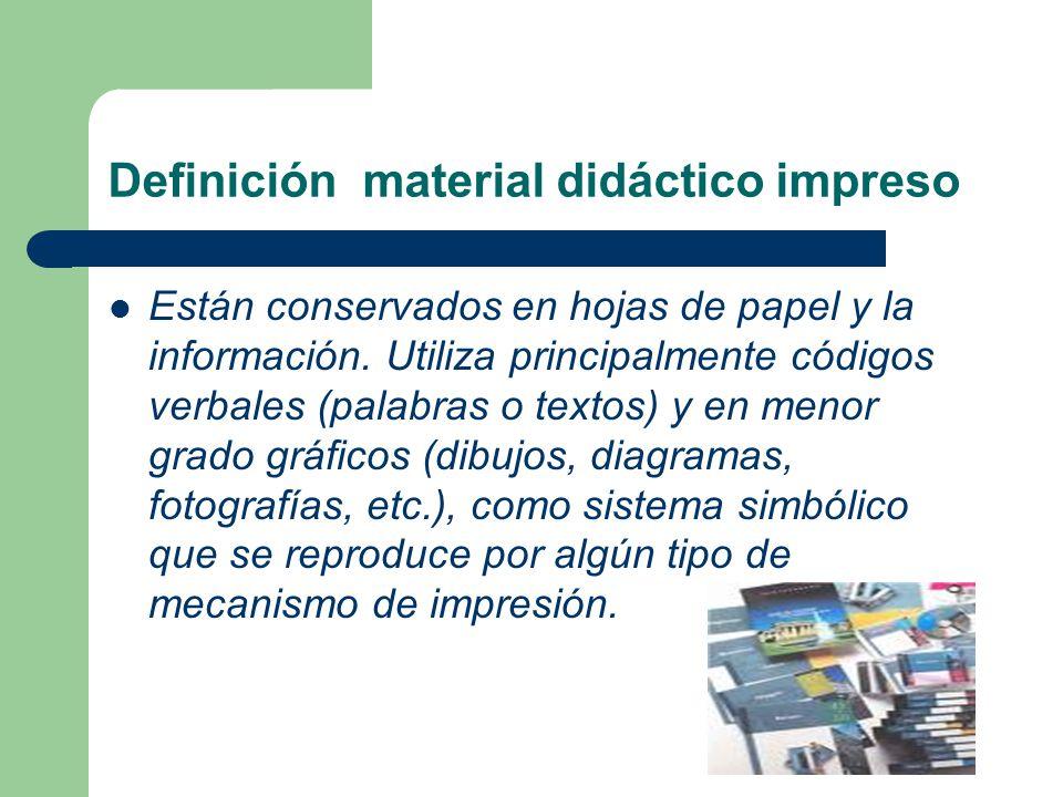 PRODUCTO 4 Caractersticas del material didctico impreso para la