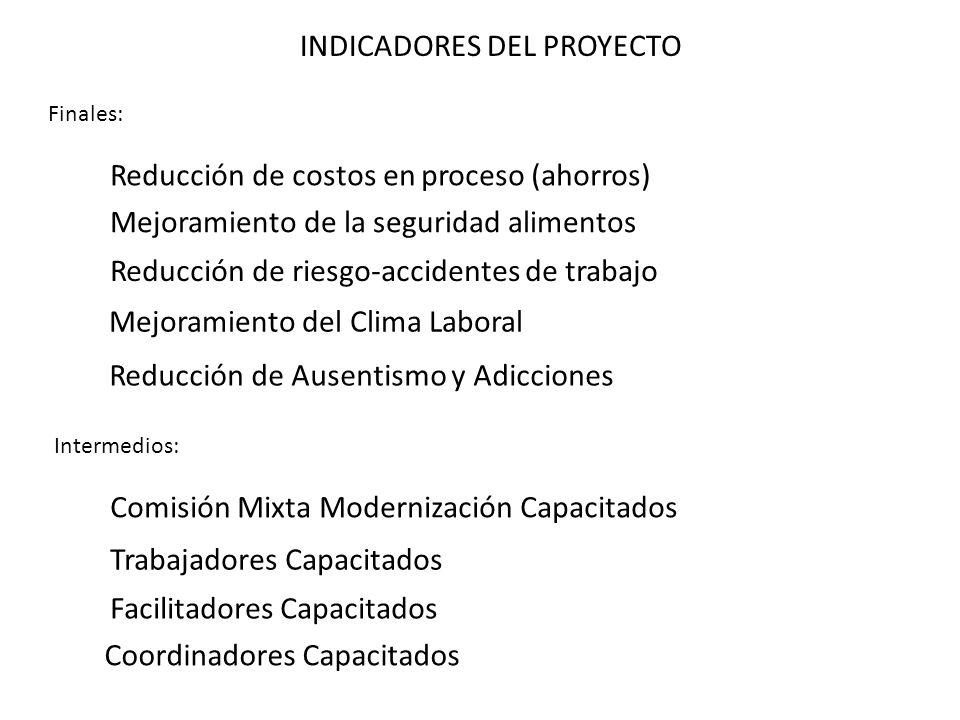INDICADORES DEL PROYECTO