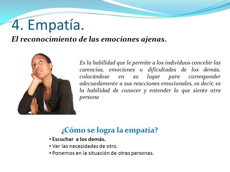 ¿Cómo se logra la empatía