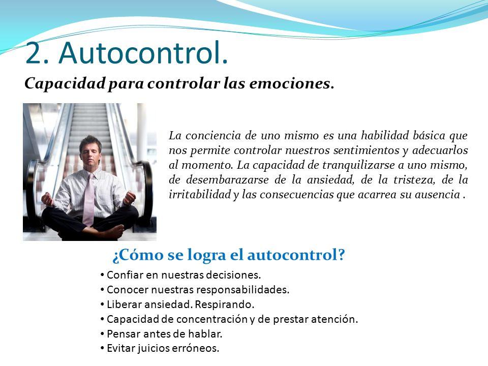 ¿Cómo se logra el autocontrol