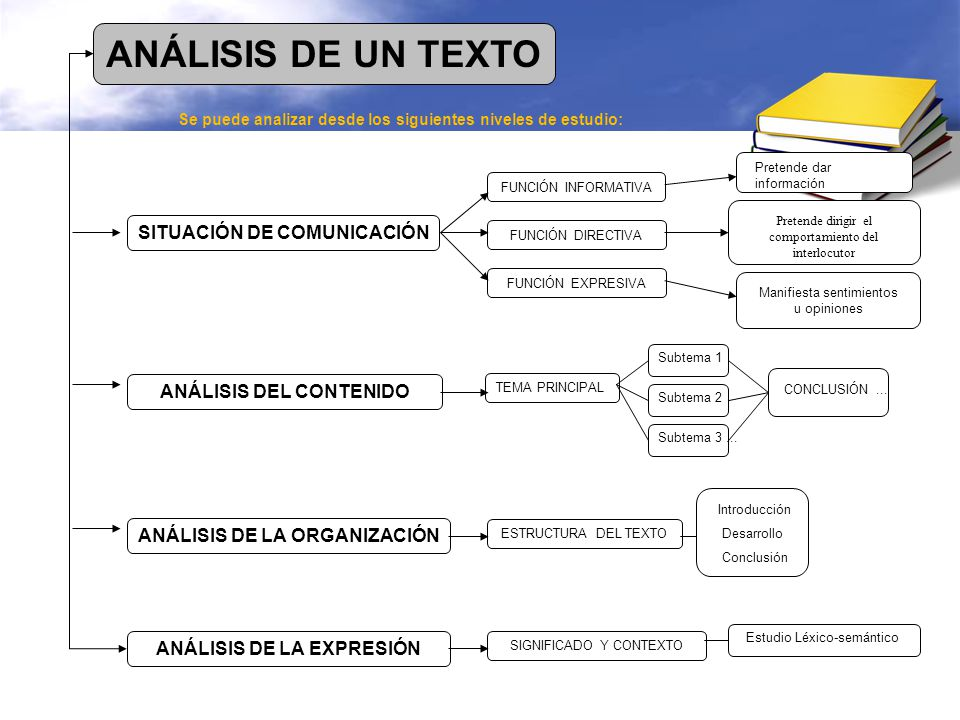 ANÁLISIS DE UN TEXTO SITUACIÓN DE COMUNICACIÓN ANÁLISIS DEL CONTENIDO