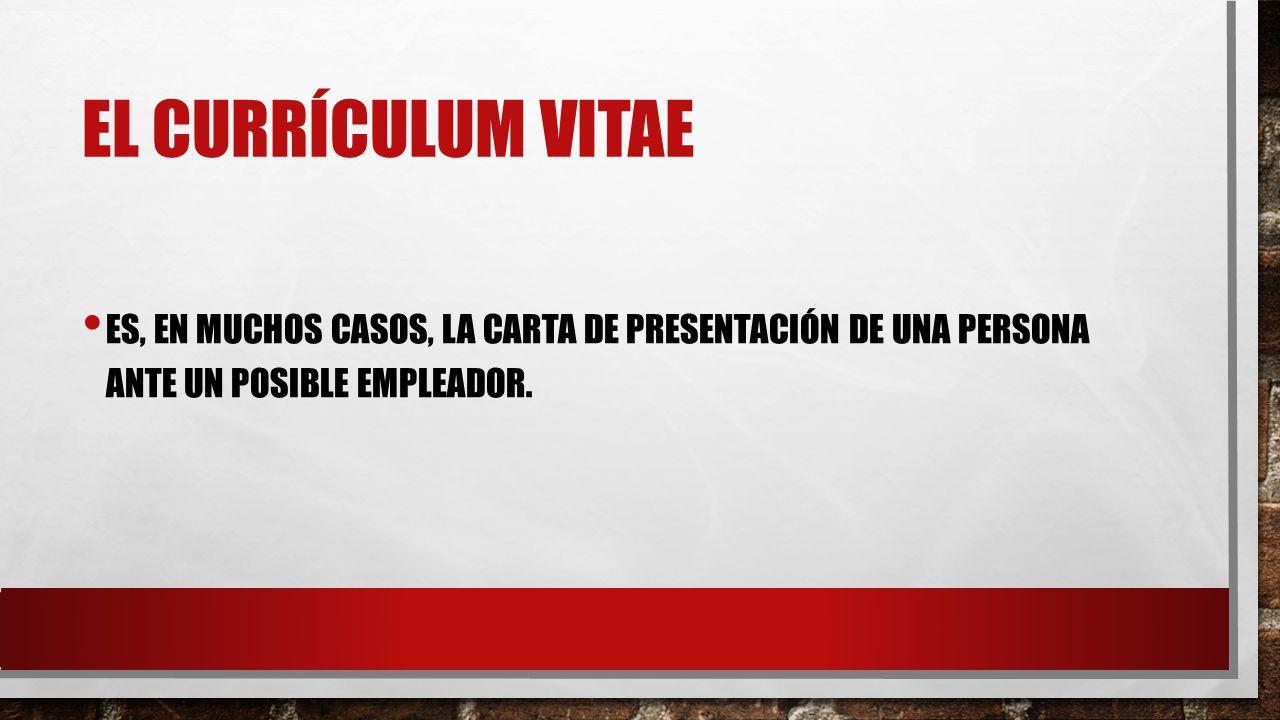 Personales: el currículum vitae - ppt descargar