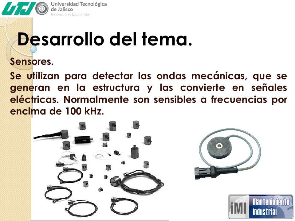 Desarrollo del tema. Sensores.