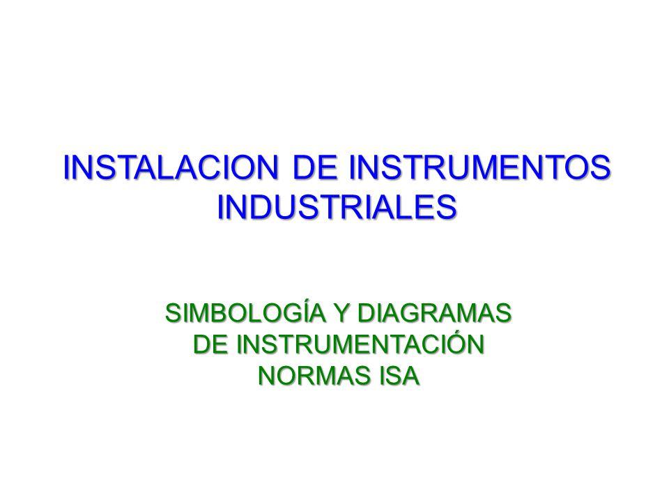 INSTALACION DE INSTRUMENTOS INDUSTRIALES