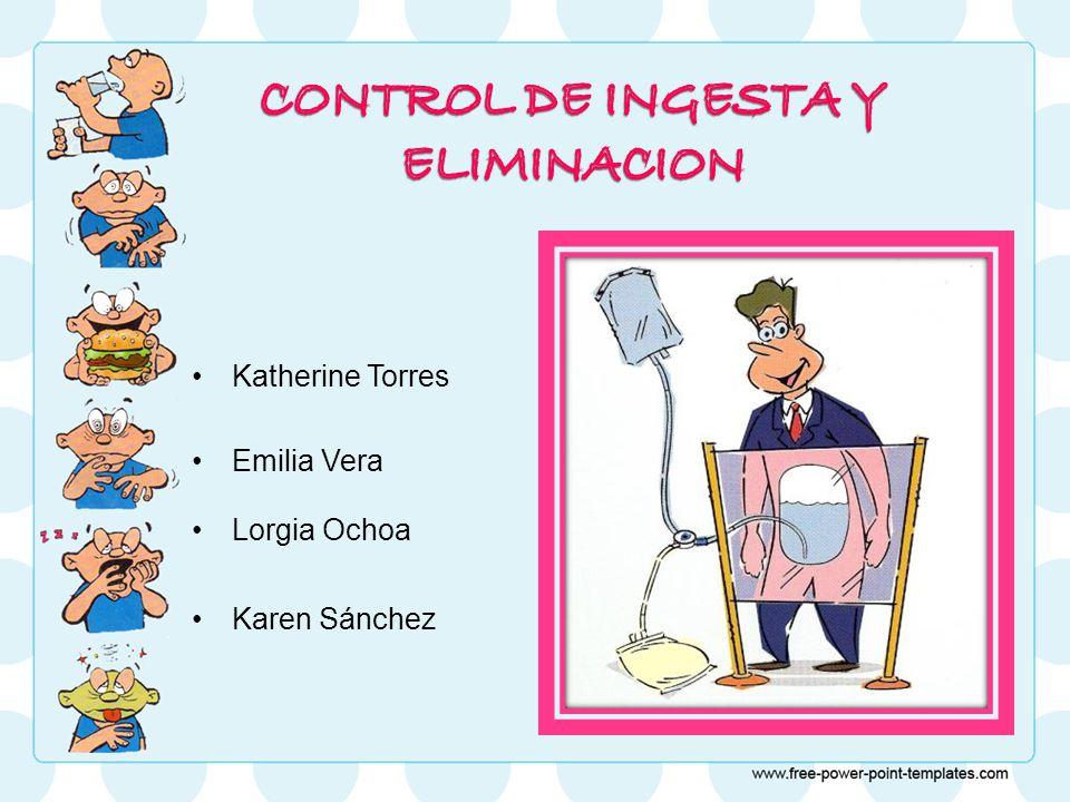 CONTROL DE INGESTA Y ELIMINACION