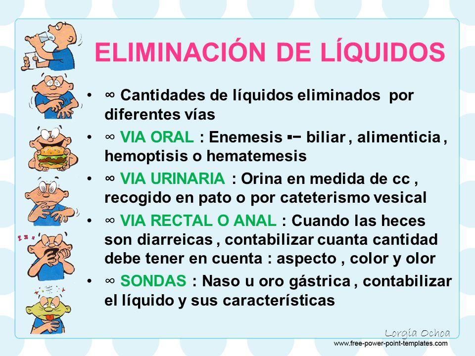 ELIMINACIÓN DE LÍQUIDOS