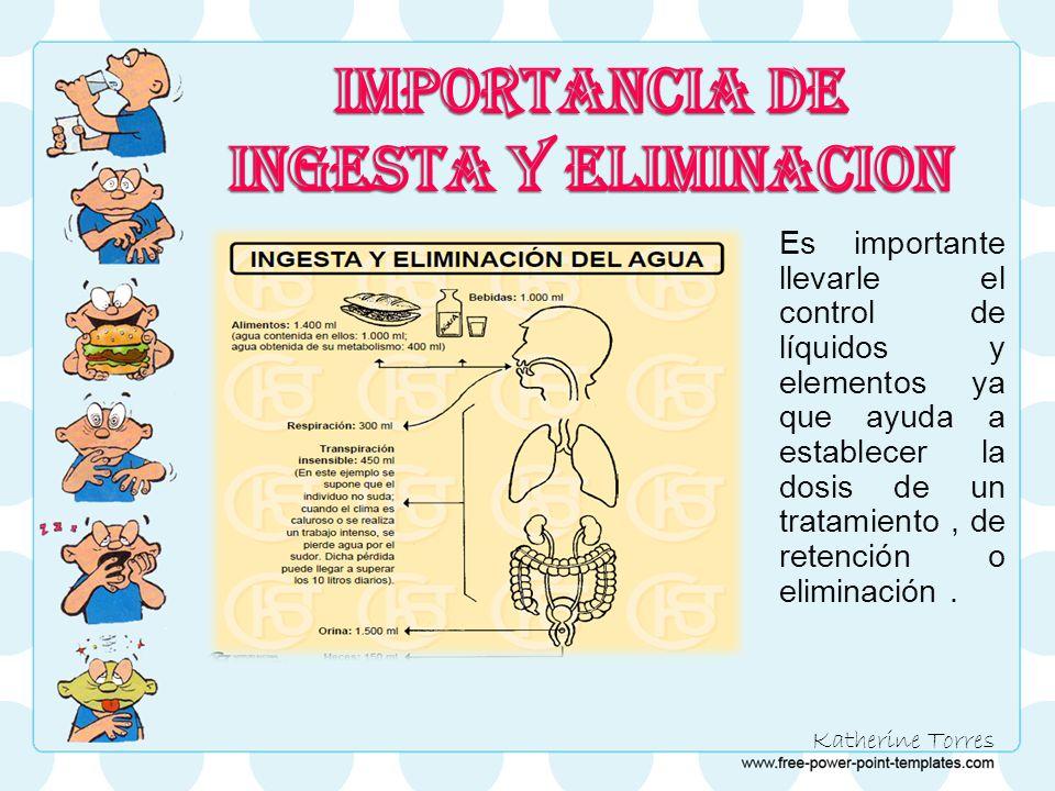 IMPORTANCIA DE INGESTA Y ELIMINACION