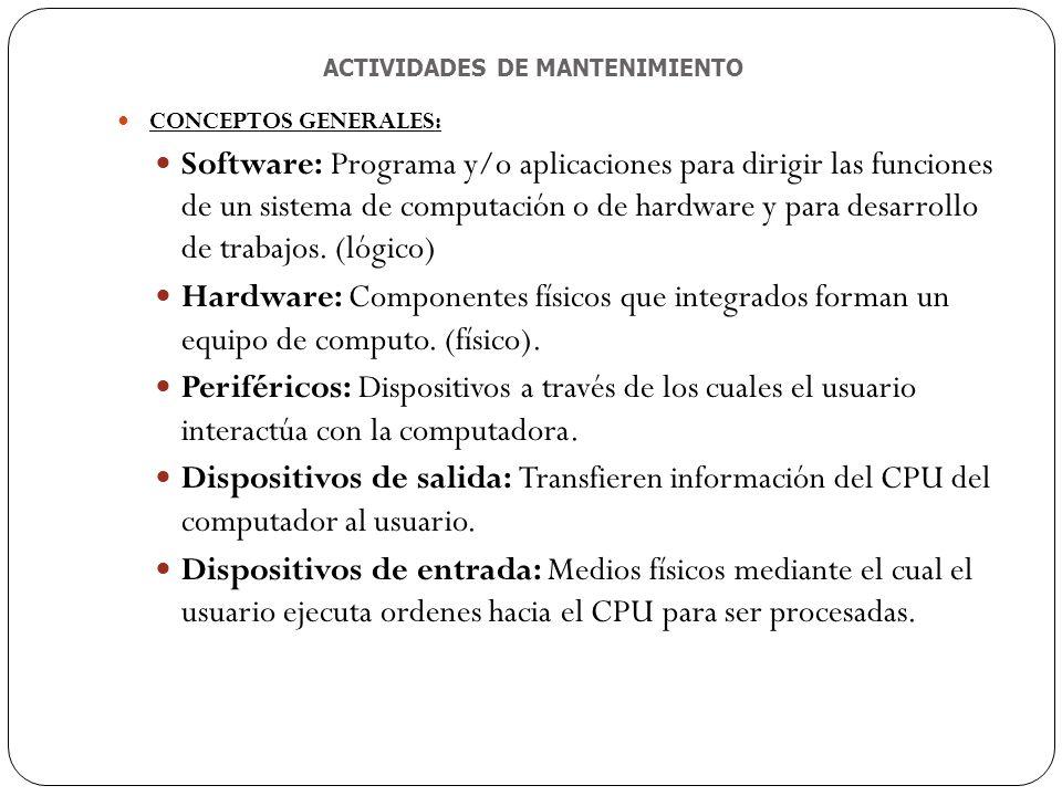 Mantenimiento de equipos de computo ppt descargar for Funcion de salida