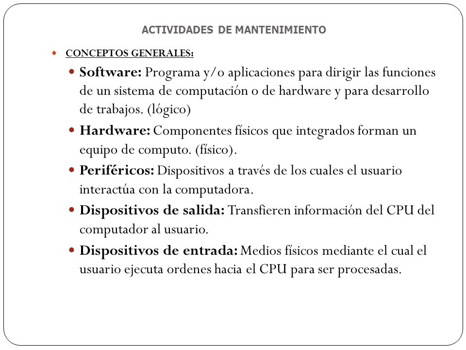 MANTENIMIENTO DE EQUIPOS DE COMPUTO - ppt descargar - photo#20