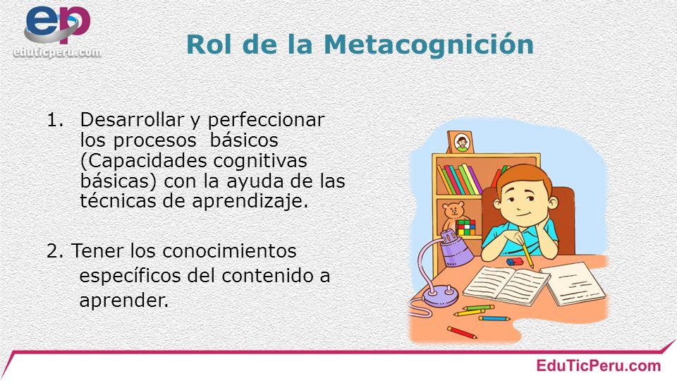 Rol de la Metacognición