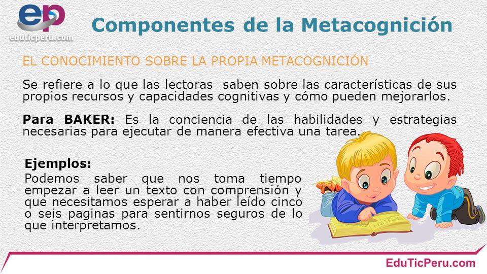 Componentes de la Metacognición