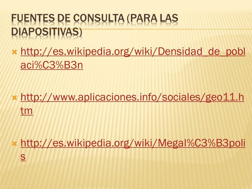 Fuentes de consulta (para las diapositivas)