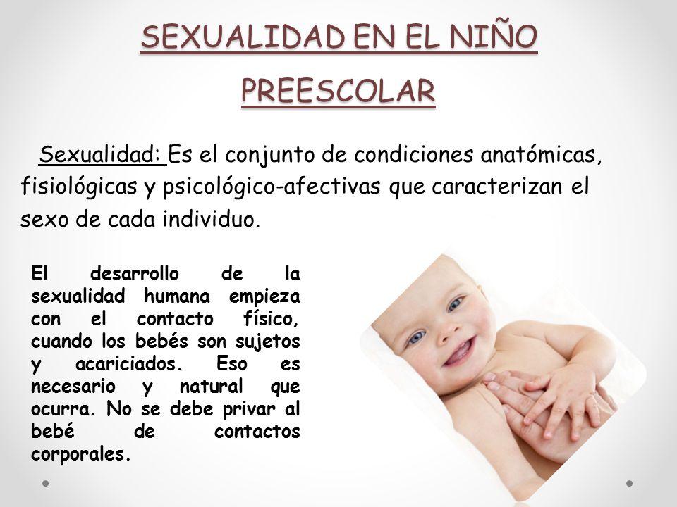 SEXUALIDAD EN EL NIÑO PREESCOLAR