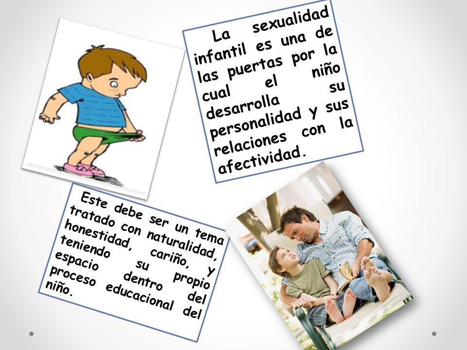 La sexualidad infantil es una de las puertas por la cual el niño desarrolla su personalidad y sus relaciones con la afectividad.