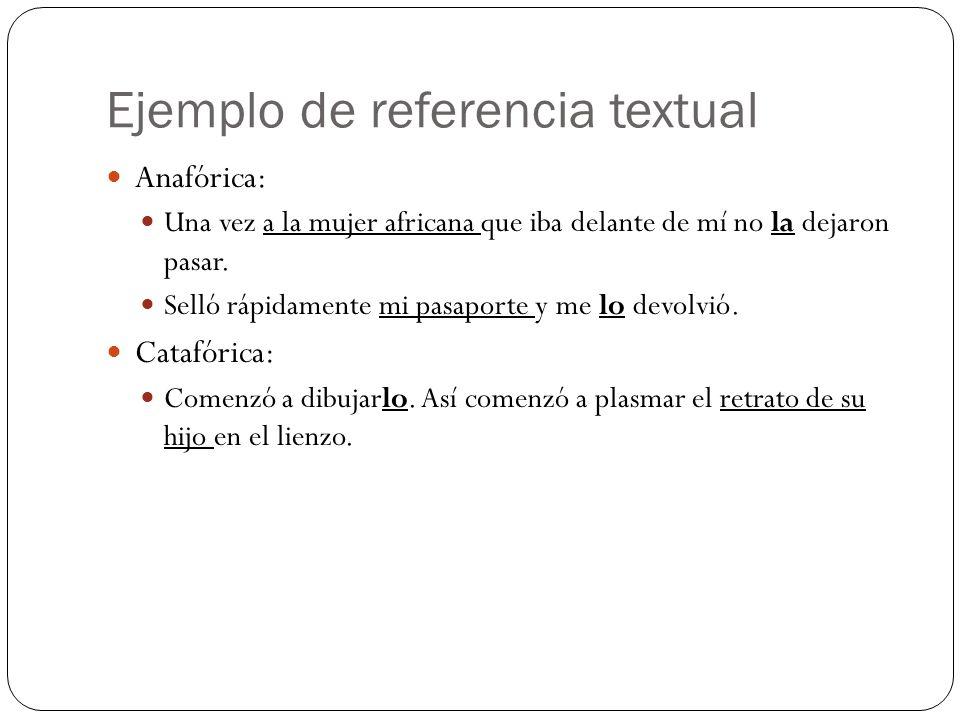 Ejemplo de referencia textual