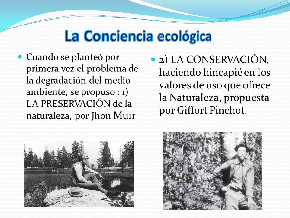 La Conciencia ecológica