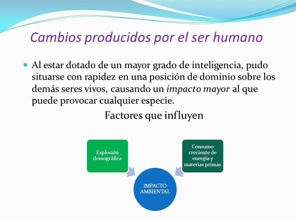 Cambios producidos por el ser humano