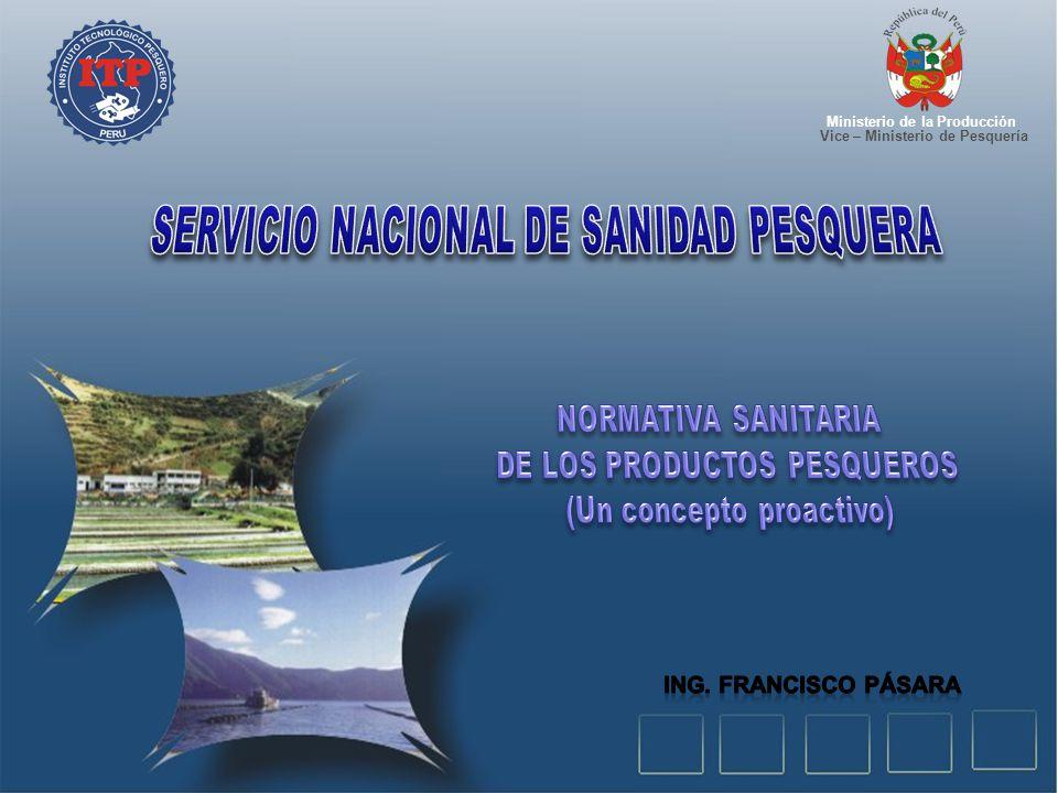 Servicio nacional de sanidad pesquera ppt descargar for Ministerio de pesqueria