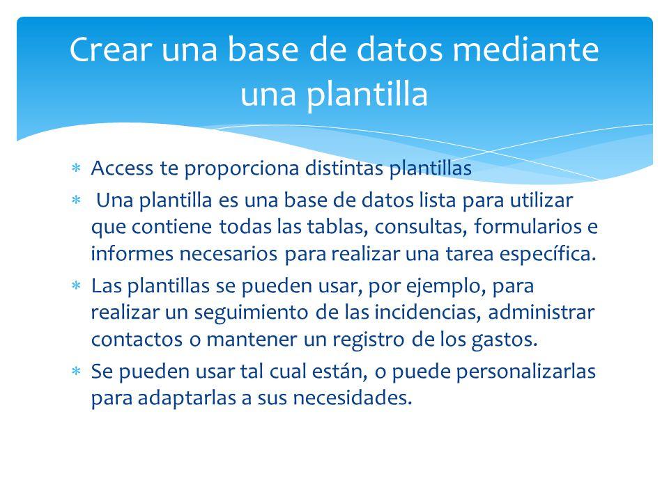 Crear una nueva base de datos en Access. - ppt video online descargar