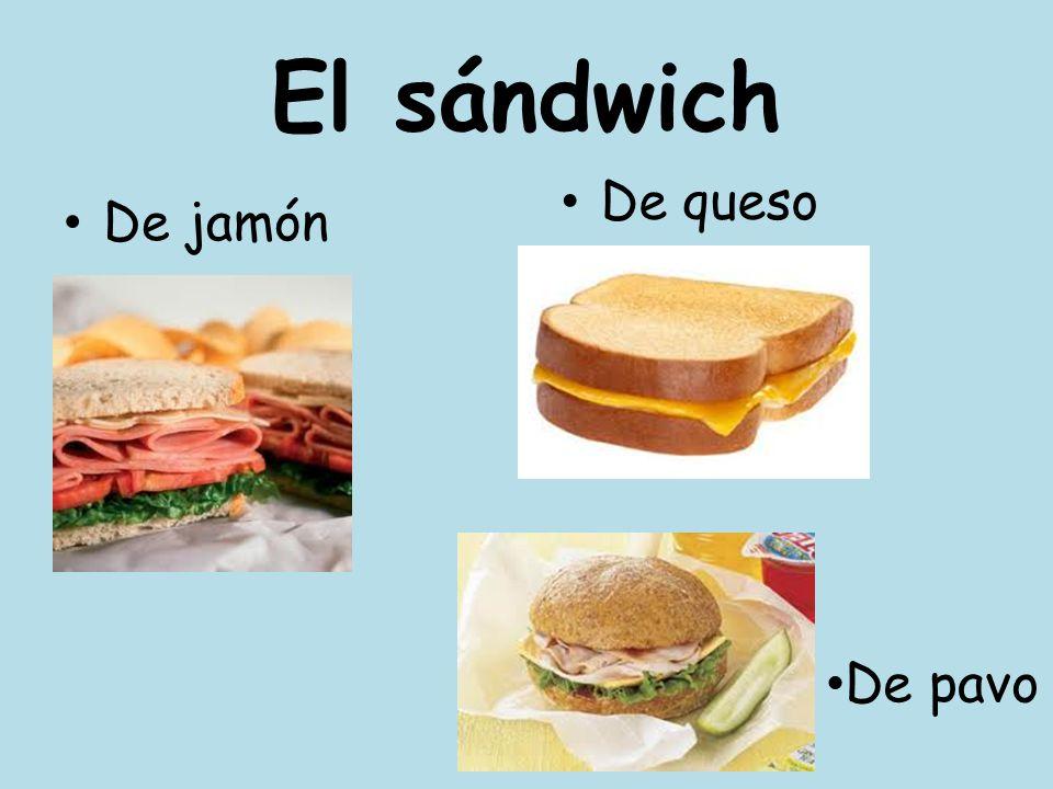 El sándwich De queso De jamón De pavo