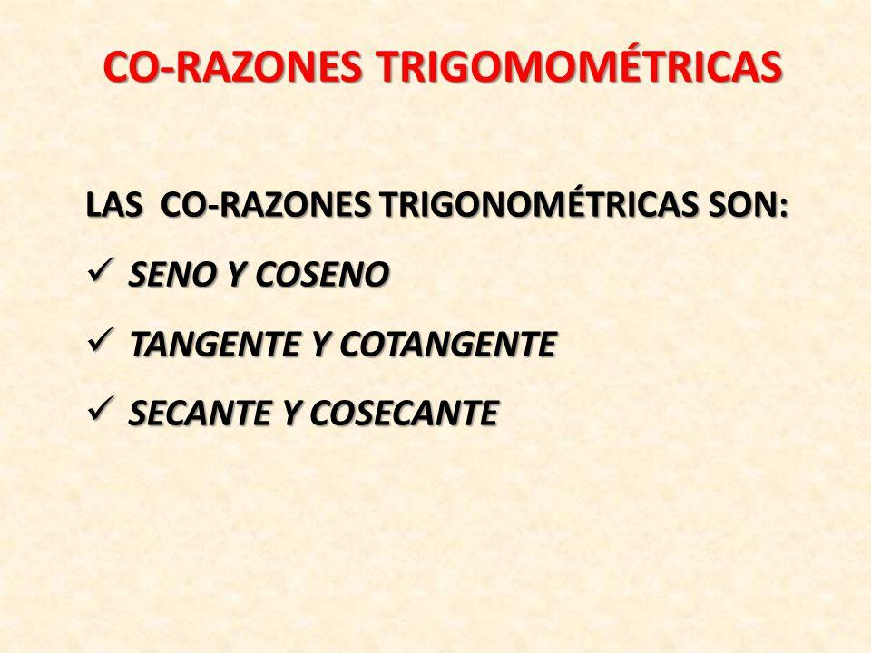 CO-RAZONES TRIGOMOMÉTRICAS