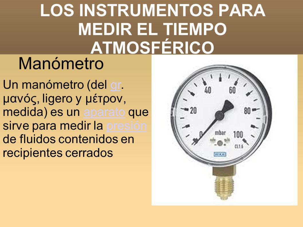 Los instrumentos para medir el tiempo atmosf rico ppt - El tiempo dos hermanas aemet ...