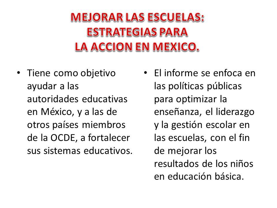 Acuerdo de cooperaci n m xico ocde para mejorar la calidad for La accion educativa en el exterior