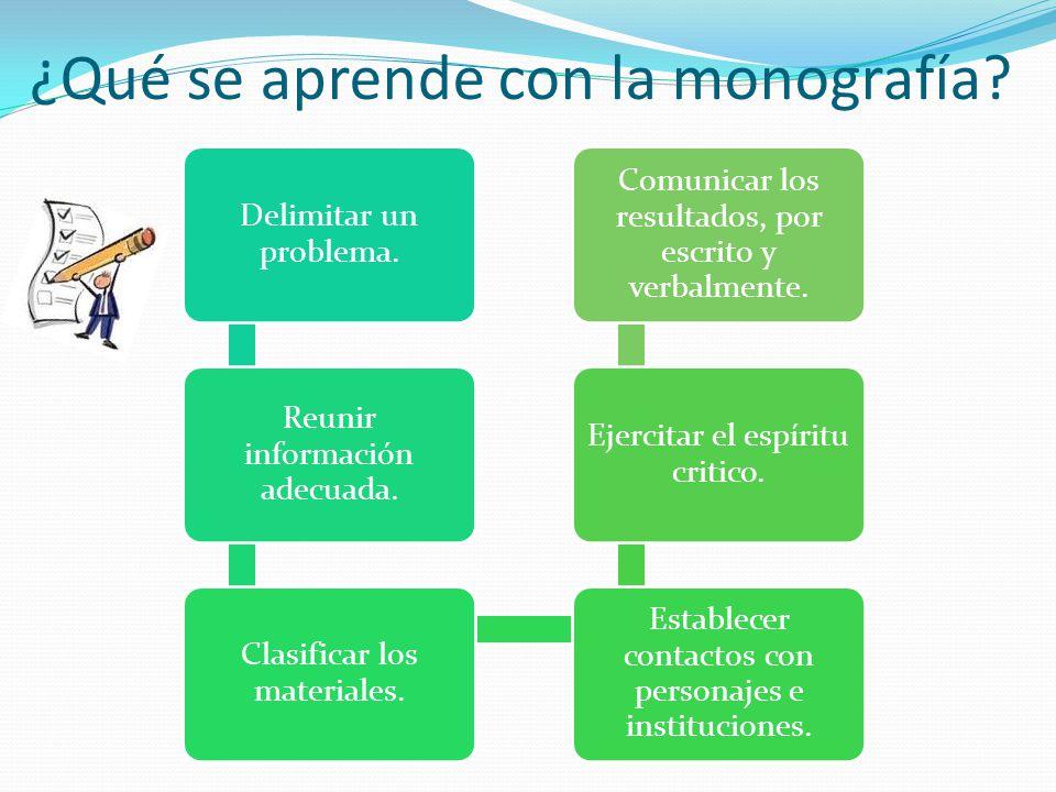 ¿Qué se aprende con la monografía