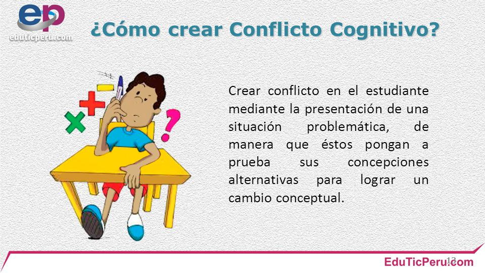 ¿Cómo crear Conflicto Cognitivo
