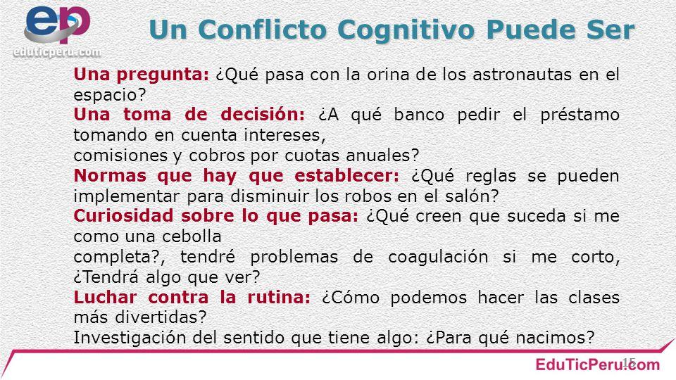 Un Conflicto Cognitivo Puede Ser