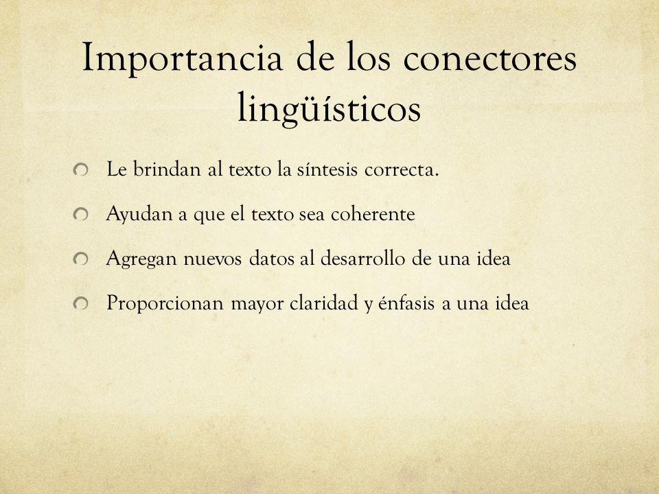 Importancia de los conectores lingüísticos