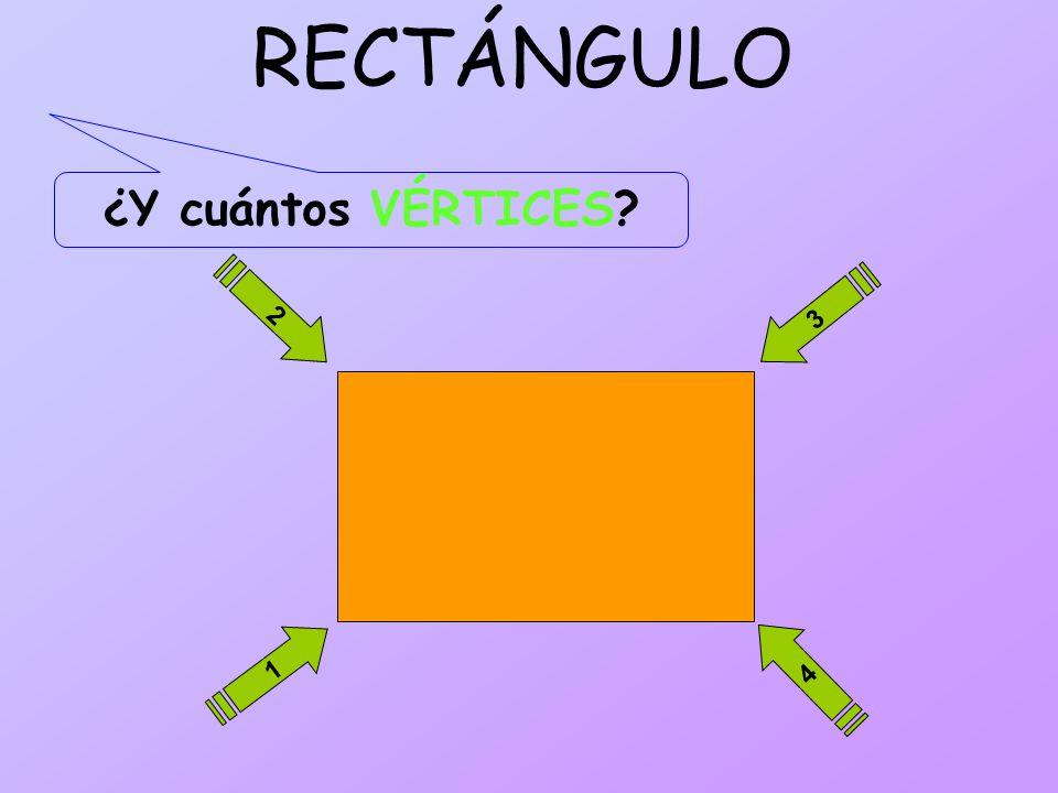 RECTÁNGULO ¿Y cuántos VÉRTICES 2 3 1 4