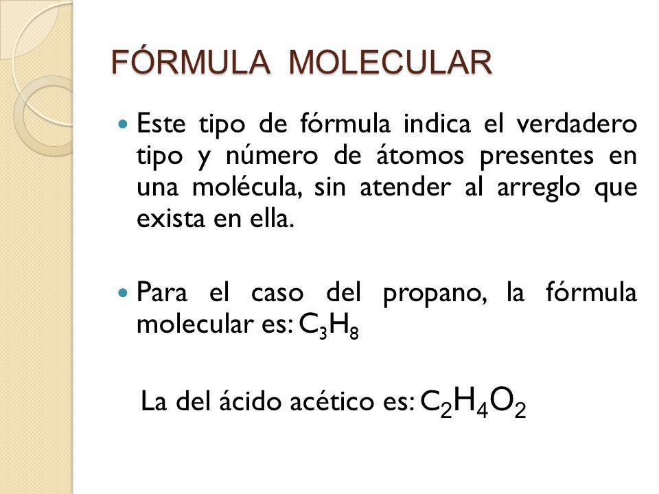 Unidad i tipos de f rmulas desarrollada semidesarrollada for Que es la comida molecular