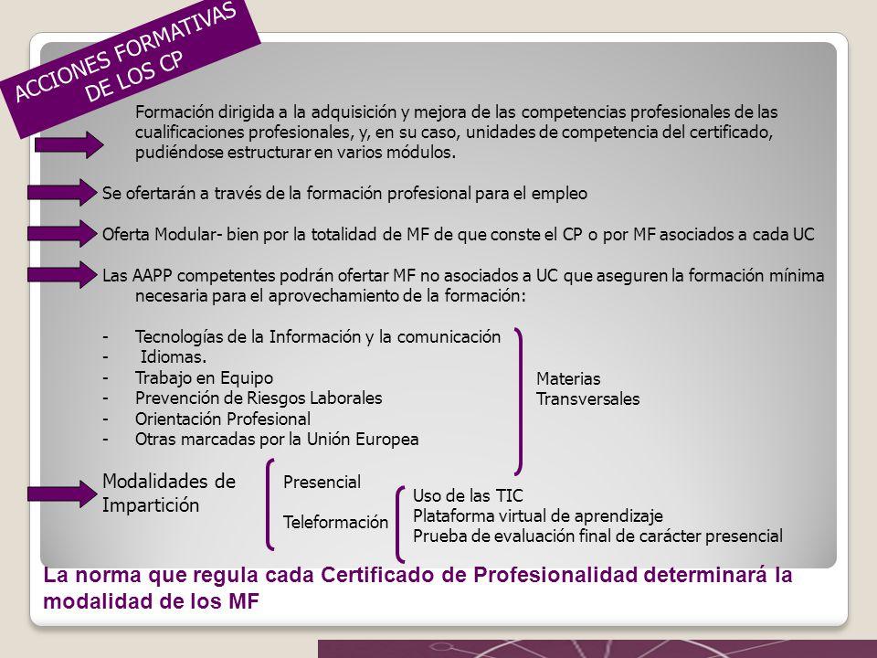 Certificados de profesionalidad ppt video online descargar for Oficina virtual de formacion profesional para el empleo