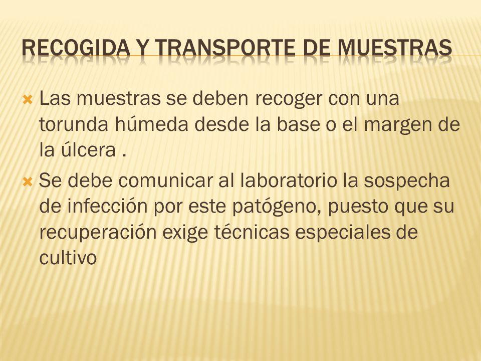 Recogida y transporte de muestras