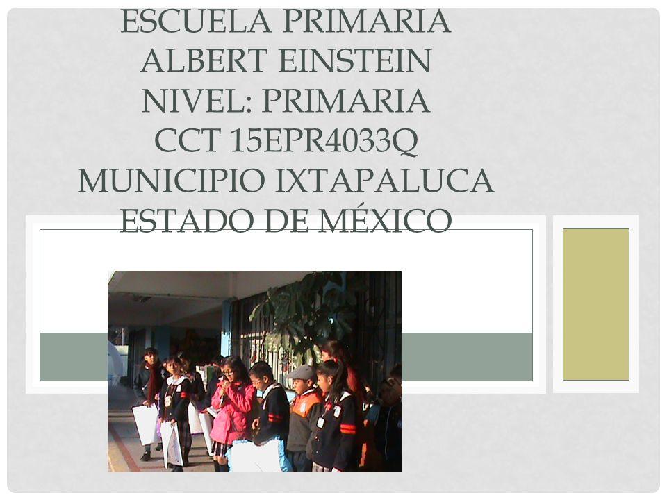 Escuela primaria albert einstein nivel primaria cct for Cct de la escuela