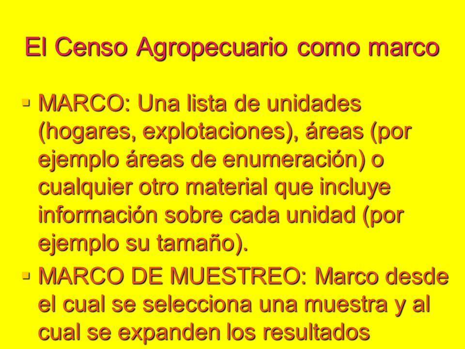 MARCOS PARA CENSOS Y ENCUESTAS AGRÍCOLAS - ppt descargar