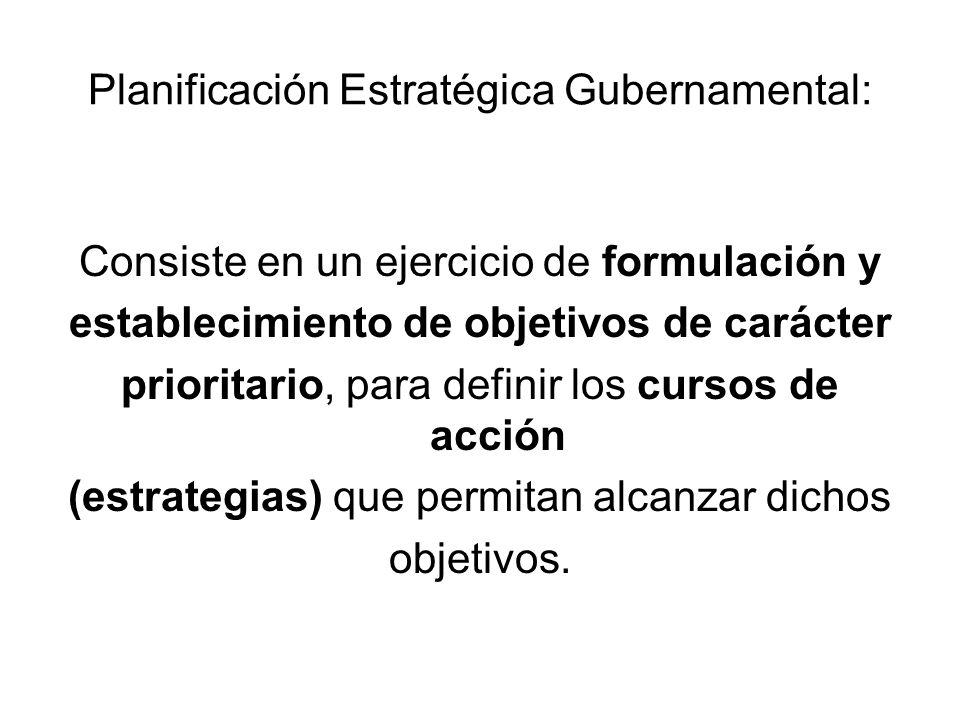 Planificación Estratégica Gubernamental: