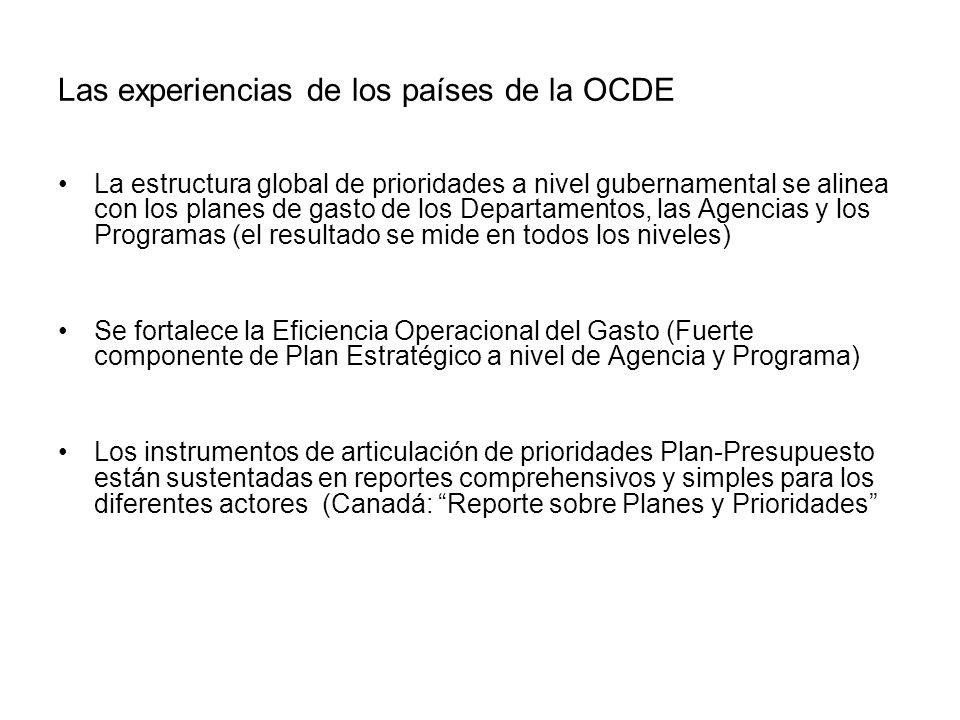 Las experiencias de los países de la OCDE