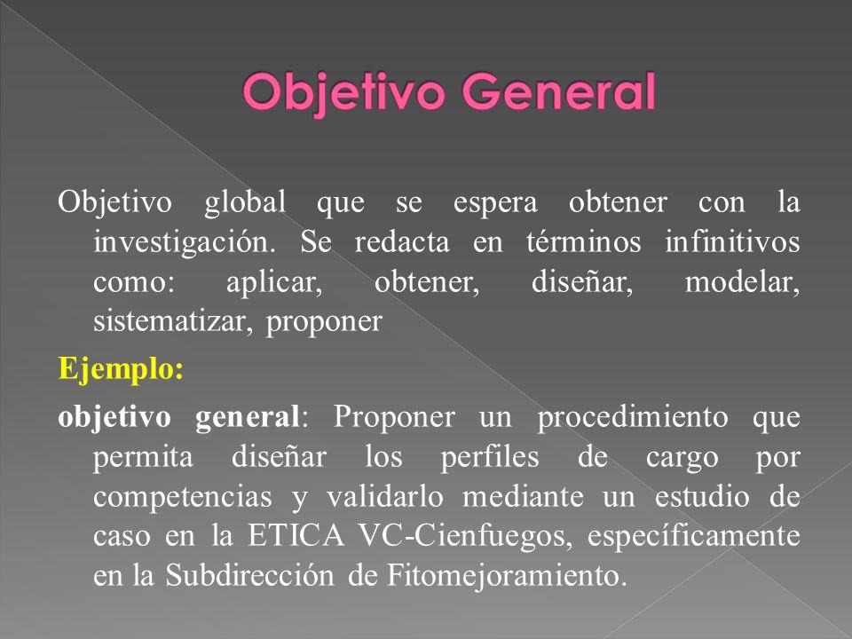 Metodolog a para el trabajo de tesina ppt video online for Objetivo general de un vivero