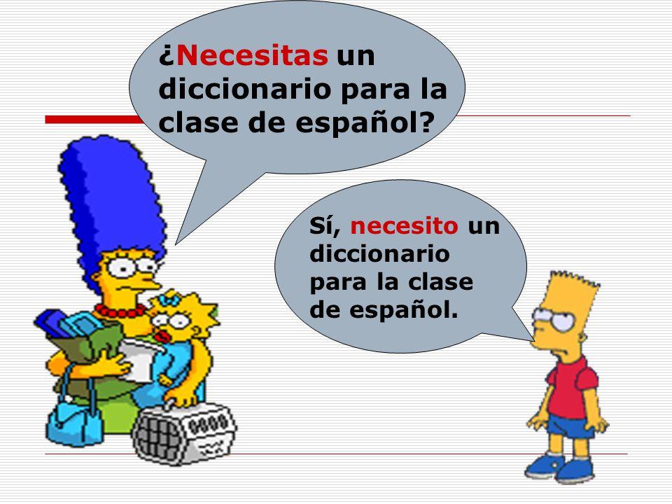 ¿Necesitas un diccionario para la clase de español