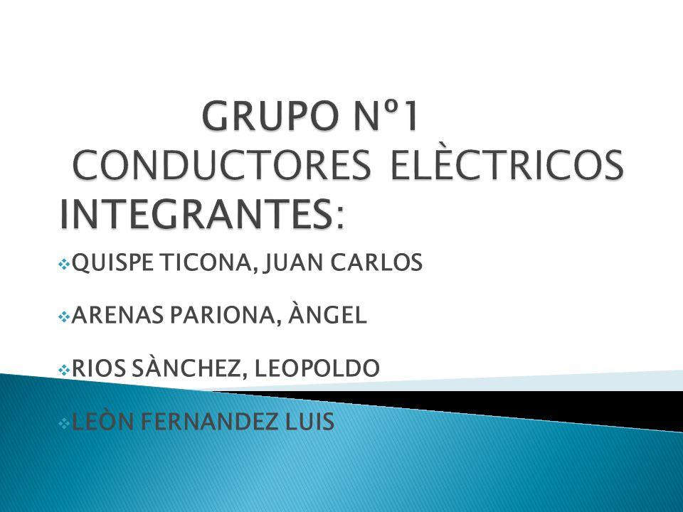 GRUPO Nº1 CONDUCTORES ELÈCTRICOS INTEGRANTES: