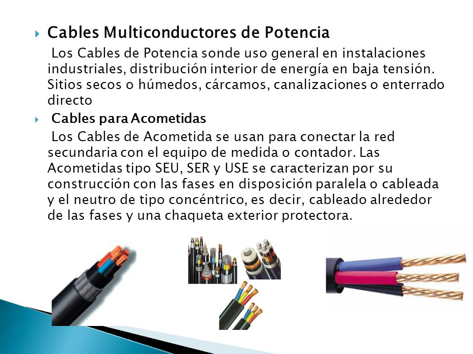 Cables Multiconductores de Potencia