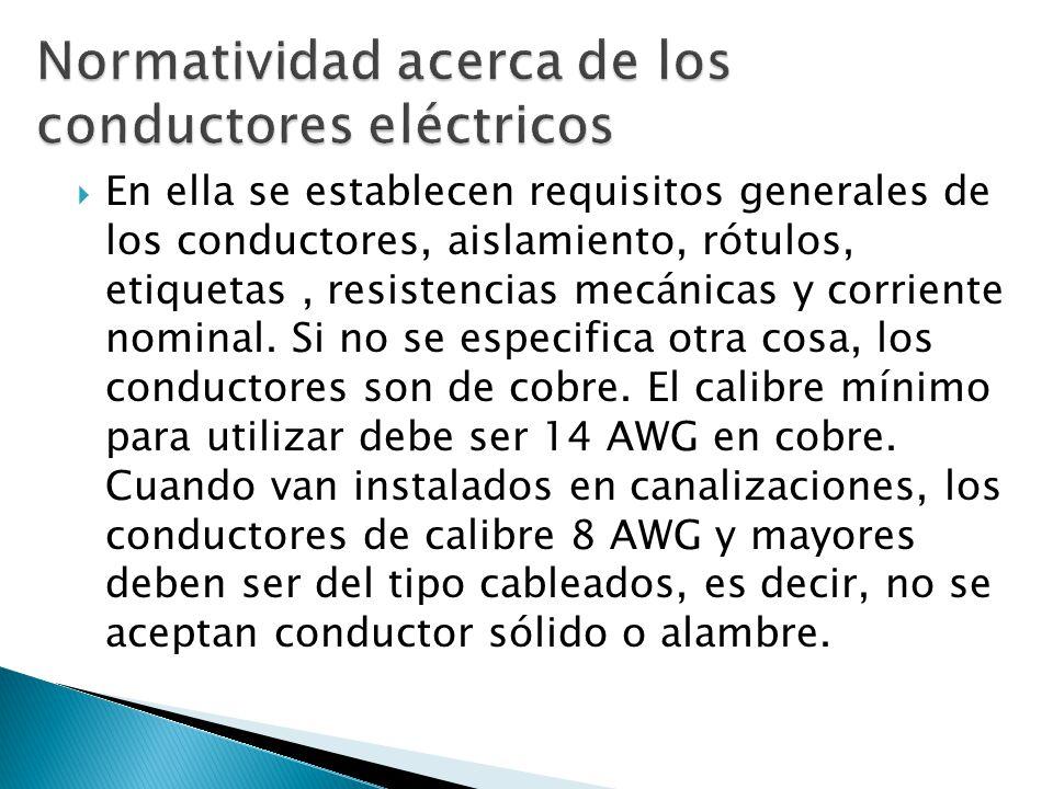 Normatividad acerca de los conductores eléctricos