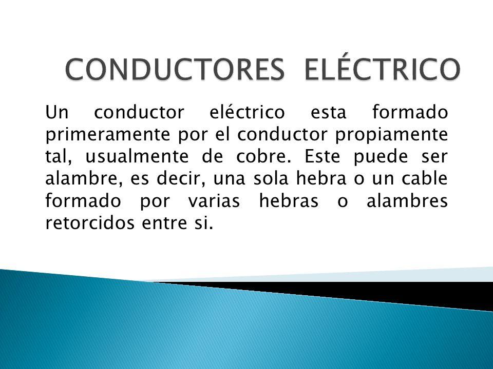 CONDUCTORES ELÉCTRICO