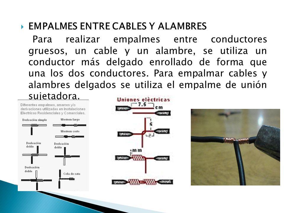 EMPALMES ENTRE CABLES Y ALAMBRES
