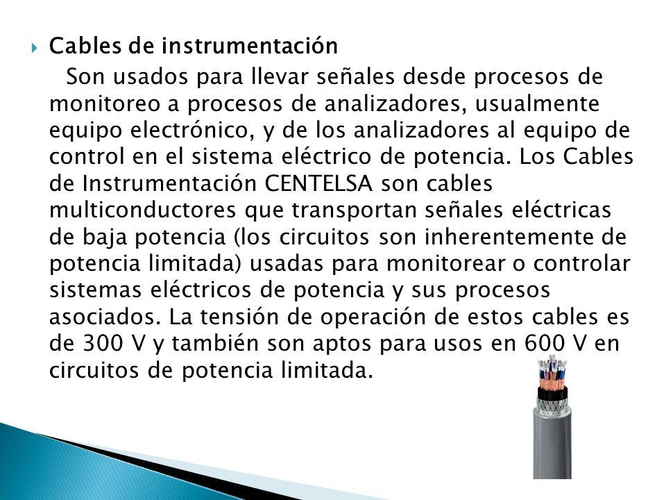 Cables de instrumentación
