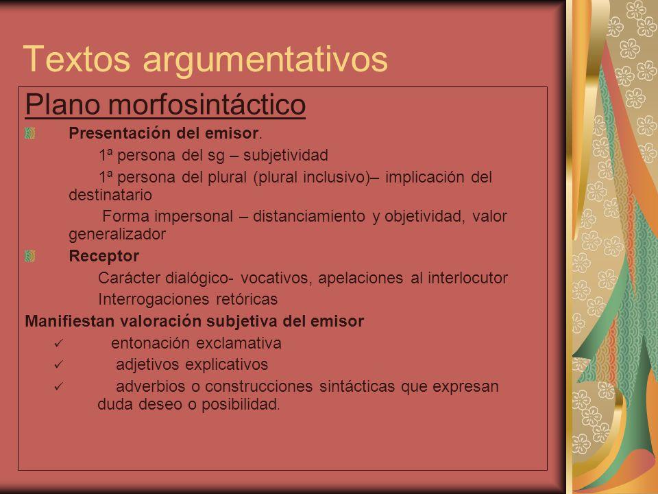 Textos argumentativos