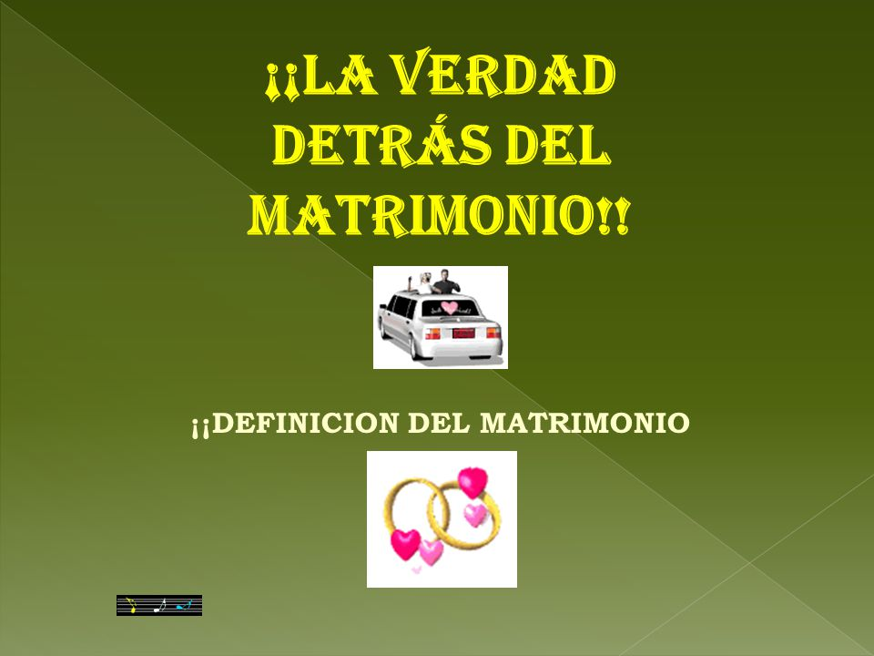 Matrimonio Definicion : La verdad detrÁs del matrimonio ¡¡definicion
